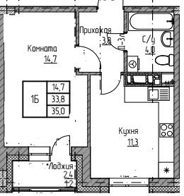 мкр Полярный 1ком общ35 кв120